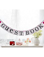 Popular Guest Book Banner with Hot Pink Hearts Wedding Birthday Party Bridal Shower Decoration