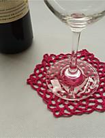 Hexagon Cotton Table Mat Crochet Coasters Zakka Doilies Cup Pad Props For Wedding