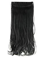 cabelo sintético 60 centímetros alta hemperature preto profundo extensão do cabelo fio peruca comprimento