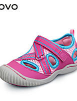 Girls' Shoes Casual Comfort / Round Toe PU / Canvas Sandals Green / Pink