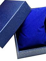 boîte de montre bracelet en cuir gaufré