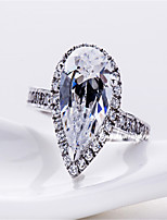 7*9mm 2CT Pear Shape Diamond Ring for Women Sterling Silver Jewelry Female Halo Style Engagement Excellent Drop Cut Ring