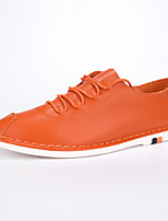 Men's Shoes Outdoor / Athletic / Casual Microfibre Loafers Beige / Orange