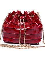 Women-Casual / Outdoor-Cowhide-Shoulder Bag-Green / Red / Black