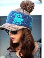 Deer Balls Wool Knitted Hat Baseball Leisure Benn Cap