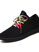Men's / Unisex Spring / Summer / Fall Styles / Round Toe Tulle / PU Office & Career / Casual / Party & Evening Flat Heel Black / White