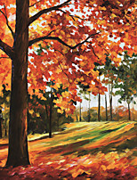 JAMMORY 3D Wallpaper Classical Wall Covering,Canvas Large Mural Maple Trees Oil Painting
