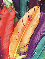 JAMMORY Art Deco Wallpaper Luxury Wall Covering,Canvas Large Mural Colored Feathers