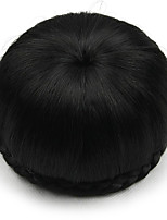Kinky Curly Black Human Hair Lace Wigs Chignons 2