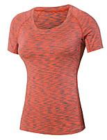 Running T-shirt Women's Quick Dry / Sweat-wicking Running Sports Sports Wear Green / Red / Black / Blue / Purple