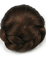Kinky Curly Brown Europe Bride Human Hair Capless Wigs Chignons DH102 2009