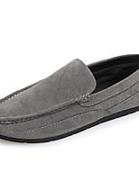 Men's Shoes Fleece Casual Loafers Casual Flat Heel Black / Brown / Gray