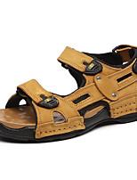 Zapatos de Hombre-Sandalias-Casual-Cuero de Napa-Negro / Azul / Marrón