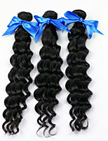 7A Grade Brazilian Deep Wave 3 Bundles Queen Weave Brazilian Virgin Hair Unprocessed Brazilian Curly Weave