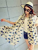 Cotton Owl Printing  Scarves Large Oversized Fashion Shawls
