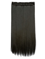 Extension à clip Extensions de cheveux humains Synthétique 130 Extension des cheveux