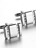 Men's Fashion Silver Alloy French Shirt Cufflinks (1-Pair)