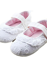 Baby Shoes Outdoor Cotton Flats White