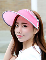 Women Summer Outdoor Foldably Retractable Sunscreen UV Empty Top Candy Colors Hat