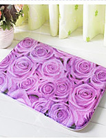 3D Designed Modern Style Flannel Material Non-Slip Colourful Rectangle Mat W20