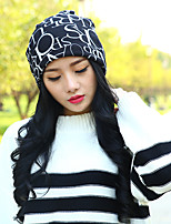 Couple Letters Printed Scarf Hat Multifunction Cotton Casual Fashion Hat