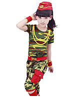 Performance Outfits Children's Performance Cotton Pattern/Print 4 Pieces Green