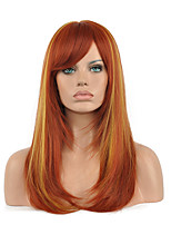 Top Quality Full Synthetic Wigs Beauty Hair Product Mix Brown Blonde Color Cosplay Wig.