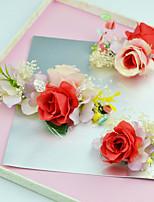 Femme / Jeune bouquetière Tissu Casque-Mariage / Occasion spéciale / Extérieur Fleurs 3 Pièces