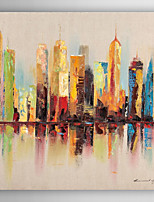 Hand Painted Oil Painting Landscape Cityscapes with Stretched Frame 7 Wall Arts®