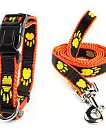 Hundar Halsband / Koppel Justerbara/Infällbar Svart / Gul Nylon