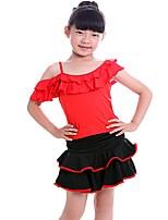 Danse latine Enfant Nylon 1 Pièce Sans manche Robe