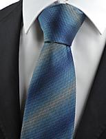 KissTies Men's Necktie Gradiant Blue Dots Wedding/Business/Work/Formal/Casual Tie With Gift Box