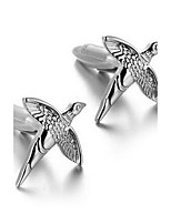 Men's Fashion Bird Style Silver Alloy French Shirt Cufflinks (1-Pair)