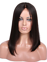 8A Remy human hair 8-18inches Yaki Straight full or lace front Campell Style Middle Part Bob Wigs