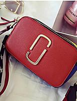Casual-Bolso de Hombro-PU-Rojo / Borgoña-Mujer