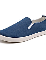 Men's Shoes Casual Canvas Loafers Black / Blue