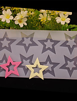 8 Hole Star Shape Chocolate Plugin Mold for Cake Decoration Baking Mold Silicone Material