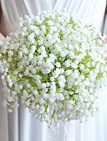 Bouquets de Noiva Redondo Lírios Buquês Casamento Branco Cetim / Algodão / Papél 9.06