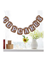 Vintage Wedding Engagement Party Shower Banner Cupcake Cake Decoration Garlands