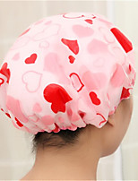 Double Waterproof Shampoo Ladies Fashion  Satin Shower Cap Bath Hair Turban