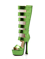 Zapatos de mujer-Tacón Stiletto-Tacones / Punta Abierta / Plataforma / Punta Redonda-Botas-Boda / Exterior / Oficina y Trabajo / Vestido