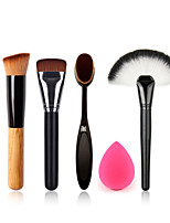 Wood Brush The Fan Brush Makeup Toothbrush Foundation Brush Cleaning Brush Egg And Small Size Makeup Sponge