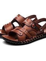 Zapatos de Hombre-Sandalias-Exterior / Oficina y Trabajo / Deporte / Vestido / Casual-Cuero de Napa-Marrón