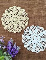16cm 20pcs/lot Retro Pastoral Flower Placemat Table Mat Handmade Cotton Round Doily Insulation Cup Pads Doilies