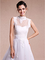 Women's Wrap Shrugs Sleeveless Lace / Tulle Ivory Wedding / Party/Evening High Neck Lace