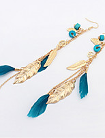 New Fashion Jewelry Feather Dangle Tassel Earring Mix Color Gift For Women Girl