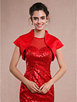 Women's Wrap Shrugs Sleeveless Sequined Ivory / Red Wedding / Party/Evening / Casual Sequin Open Front