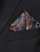 Men Paisley Multicolor 100% Silk  Pocket Square Business Fashion