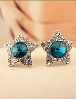 Flash Diamond Earrings Five-Pointed Star
