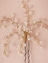 Vrouwen / Bloemenmeisje Kristallen / Licht Metaal Helm-Bruiloft / Speciale gelegenheden Haarspeld 2-delig Helder Rond
